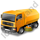 Road Sweeper Yellow Icon