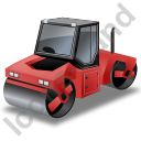 Roller Compactor Red Icon, PNG/ICO, 128x128