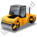 Roller Compactor Yellow Icon