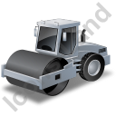 Steam Roller Grey Icon, PNG/ICO, 128x128