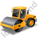 Steam Roller Yellow Icon, PNG/ICO, 128x128