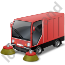 Street Sweeper Red Icon, PNG/ICO, 128x128