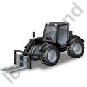 Telescopic Handler Black Icon, PNG/ICO, 128x128