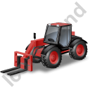 Telescopic Handler Red Icon