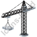 Tower Crane Black Icon
