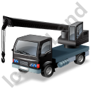 Truck Mounted Crane Working Black Icon