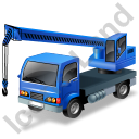 Truck Mounted Crane Working Blue Icon