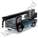 Truck Mounted Crane Black Icon, PNG/ICO, 128x128