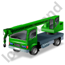 Truck Mounted Crane Green Icon, PNG/ICO, 128x128