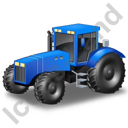 Farm Tractor Blue Icon