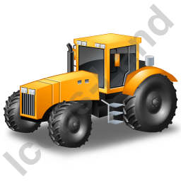 Farm Tractor Yellow Icon