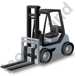 Forklift Truck Grey Icon