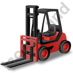 Forklift Truck Red Icon, PNG/ICO, 256x256