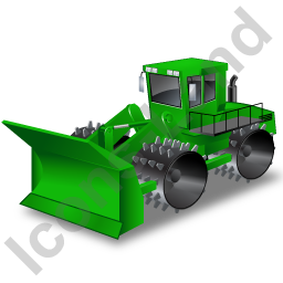 Landfill Compactor Green Icon