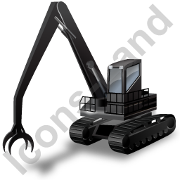 Material Handler Black Icon