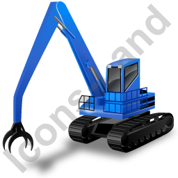 Material Handler Blue Icon