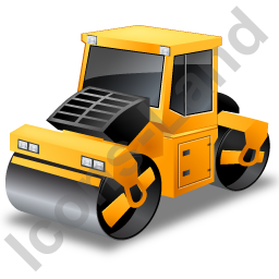 Road Roller Yellow Icon