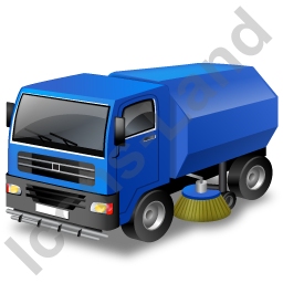 Road Sweeper Blue Icon, PNG/ICO, 256x256