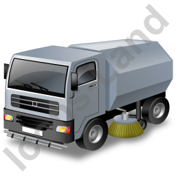 Road Sweeper Grey Icon, PNG/ICO, 256x256