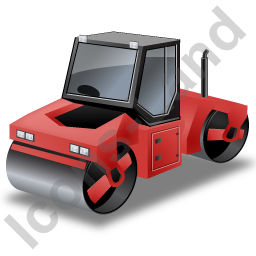 Roller Compactor Red Icon, PNG/ICO, 256x256