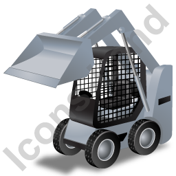 Skid Steer Loader Grey Icon