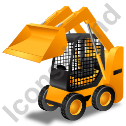 Skid Steer Loader Yellow Icon