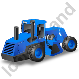Soil Stabilizer Blue Icon