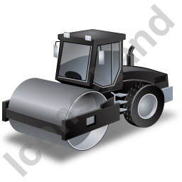 Steam Roller Black Icon
