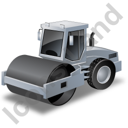 Steam Roller Grey Icon, PNG/ICO, 256x256