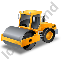 Steam Roller Yellow Icon, PNG/ICO, 256x256