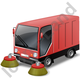 Street Sweeper Red Icon, PNG/ICO, 256x256