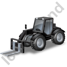 Telescopic Handler Black Icon, PNG/ICO, 256x256