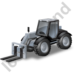 Telescopic Handler Grey Icon