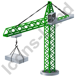 Tower Crane Green Icon