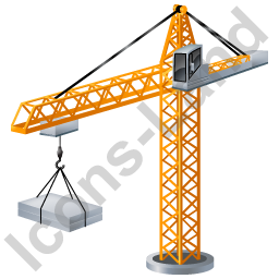 Tower Crane Yellow Icon