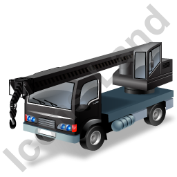 Truck Mounted Crane Black Icon, PNG/ICO, 256x256
