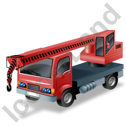 Truck Mounted Crane Red Icon