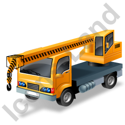 Truck Mounted Crane Yellow Icon