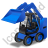 Skid Steer Loader Blue Icon, PNG/ICO, 48x48