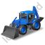 Backhoe Loader Blue Icon