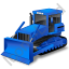 Bulldozer Blue Icon