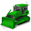 Bulldozer Green Icon, PNG/ICO, 64x64