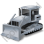 Bulldozer Grey Icon