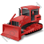 Bulldozer Red Icon