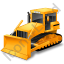 Bulldozer Yellow Icon