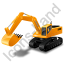 Excavator Yellow Icon