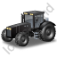 Farm Tractor Black Icon, PNG/ICO, 64x64