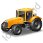 Farm Tractor Yellow Icon, PNG/ICO, 64x64