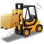 Forklift Truck Loaded Yellow Icon