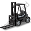 Forklift Truck Black Icon